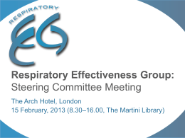 Background to REG - Respiratory Effectiveness Group