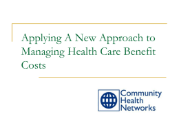 Community Health Networks Overview
