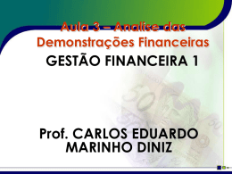 Aula 3 - Analise Financeira