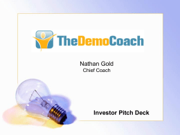 Investor Pitch Template