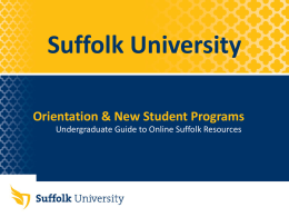 provided here - Suffolk University