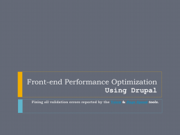 Front-end Performance Optimizationx_