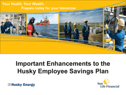 Savings Plan - Husky Energy