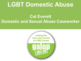 LGBT Domestic Abuse Cat Everett Domestic and Sexual