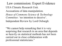 Law Commission: expert evidence review