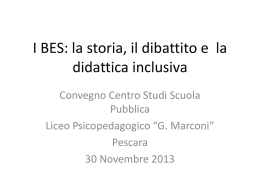 BES Bisogni Educativi Specifici