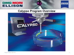 Calypso Program Overview