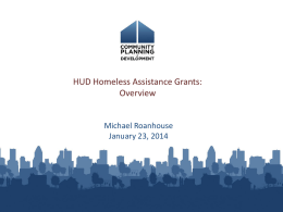 Homeless Assistance Programs