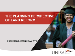 planning-and-land-reformjvw - South African Research Chair in