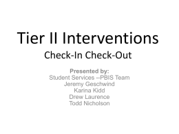 Tier 2 Interventions