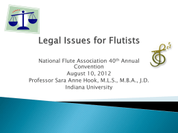 Legal Issues for Flutists - National Flute Association