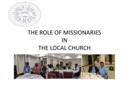 the role of missionaries in the local church
