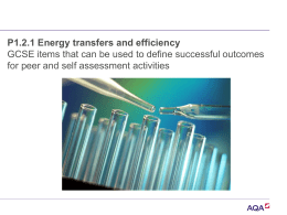 P1 2.1 Energy transfers and efficiency powerpoint