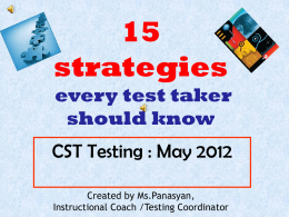 15 Strategies for Test Taking