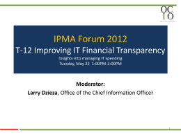 T-12 Improving IT Financial Transparency