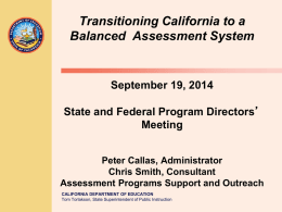 Transitioning California to a Balanced Assessment System