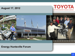 Toyota Environmental Program – Tom Cashin
