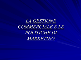 Politiche di marketing