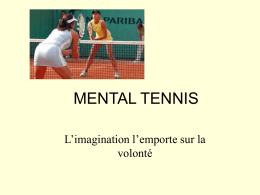 Copie de MENTAL TENNIS power point SIMPLIFIEE