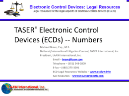 Brave - Numbers Presentation - Electronic Control Devices: Legal