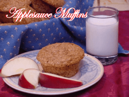 Applesauce Muffins Applesauce Muffins View this muffin