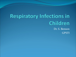 Childhood Respiratory Infections