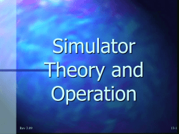 11 Simulator Theory and Operation