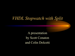 VHDL Stopwatch with Split