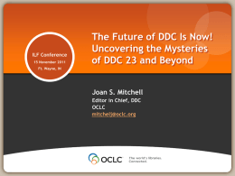 The Future of DDC Is Now!