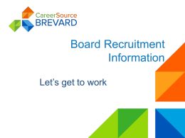 Recruitment-2014 - CareerSource Brevard