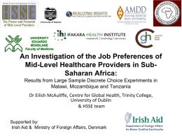 An Investigation of the Job Preferences of Mid-Level