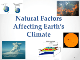 Natural Factors Affecting Earth`s Climate