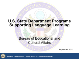 Bureau of Educational and Cultural Affairs, US Department of