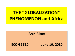 "14, The ""Globalization Phenomenon"" and Africa (Text Chapter 20)"