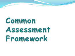 Common Assessment Framework