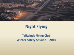 Night Flights - Tailwinds Flying Club Partnership