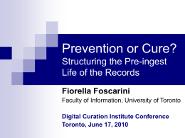 Presentation - The Digital Curation Institute