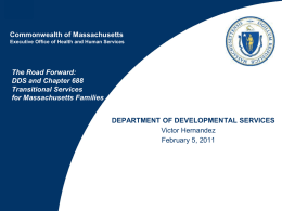 DDS And Chapter 688 Transitional Services For Massachusetts