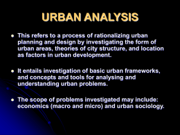 Lecture 7 - Department of Urban And Regional Planning