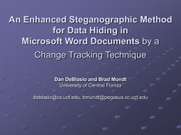 Steganography - University of Central Florida