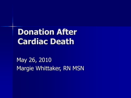 Donation After Cardiac Death