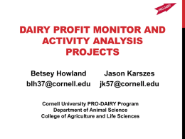 Benchmarking Your Dairy