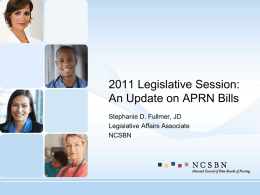 2011 Legislative Session: An Update on APRN Bills
