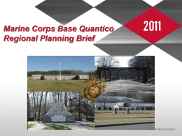 Marine Corps Base Quantico Regional Planning Brief