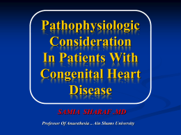 Pathophysiologic consideration in patients with congenital
