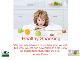 Healthy Snacking PowerPoint