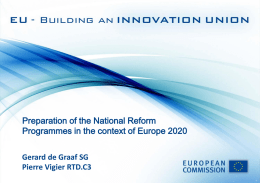 Innovation Union & National Reform Programmes
