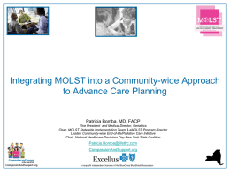 MOLST Presentation Slides - Quality Improvement Organizations