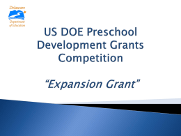 Preschool Development Grant - Delaware Department of Education