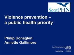 a Scottish public health priority